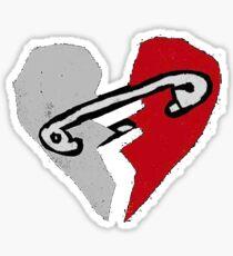 Safety Pin Heart Sticker
