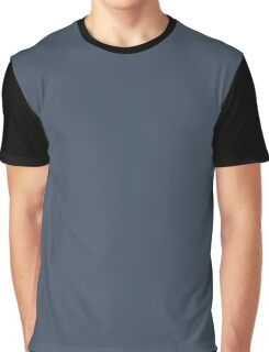 Orion Blue / Slate / Cool Grey Solid Pantone Color of The Year 2017 Graphic T-Shirt