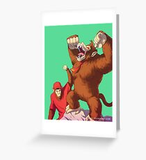 Diddy e Donkey Kong Greeting Card