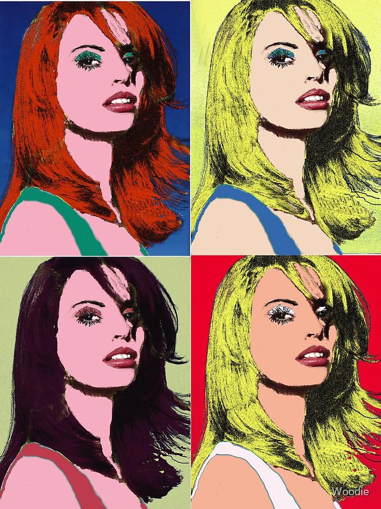 Girl's Head Warhol style (Photo) by Woodie