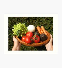 appetizing vegetables  Art Print