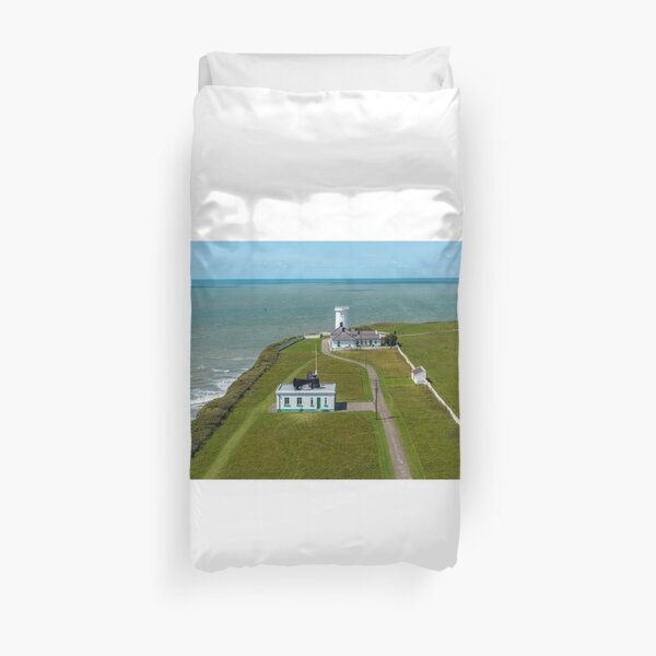 View west from Nash Point Lighthouse Duvet Cover