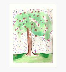 Mellinial Reign of Christ Jesus - blooming flowers  Art Print