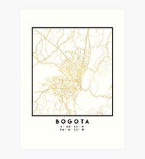 BOGOTA COLOMBIA CITY STREET MAP ART Art Print
