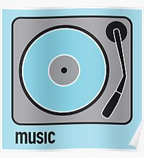 music blue Poster