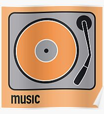 music orange Poster