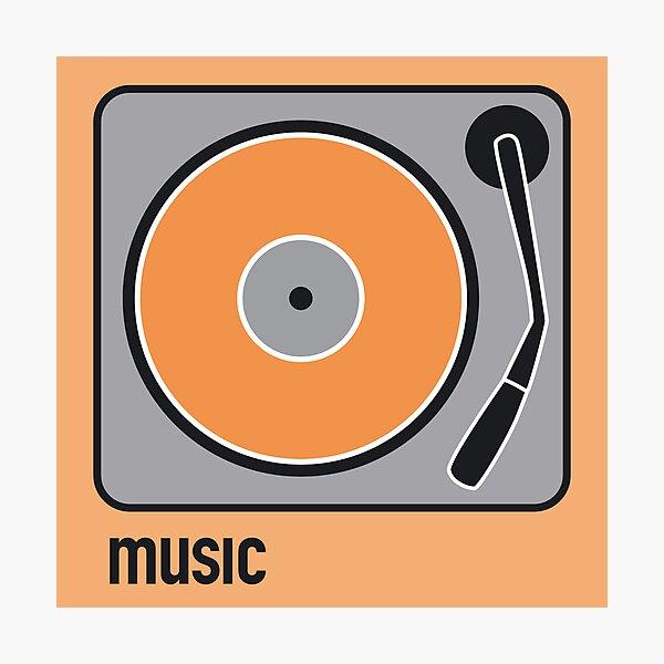 music orange Photographic Print