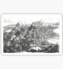 Advance of the Highlanders at the battle of Alma, Crimean War, 1854 Sticker