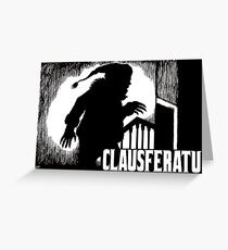 Clausferatu Christmas Card Greeting Card
