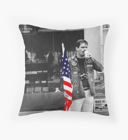 showing support Throw Pillow
