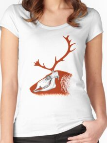 Rudolph the Red Reindeer Women's Fitted Scoop T-Shirt