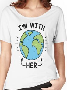 I'm With Her T-Shirt Women's Relaxed Fit T-Shirt
