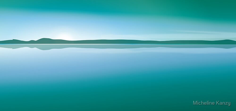 sunset mint green by Micheline Kanzy