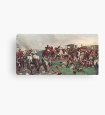 On the evening of The Battle of Waterloo Canvas Print