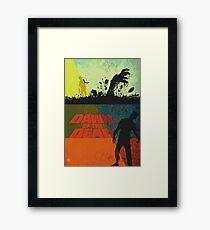 Vintage modern Dawn of the dead Framed Print