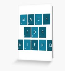 March For Science T-Shirt  Greeting Card