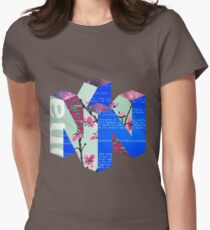 N64 - Vaporwave Womens Fitted T-Shirt
