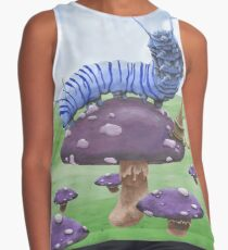 Who Are You? The Wonderland Caterpillar on Mushroom  Contrast Tank