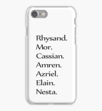Feyre's Litany Minimalist iPhone Case/Skin