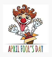 Happy Fools Day Illustration Photographic Print