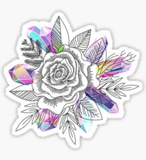 Rose and Crystals Sticker