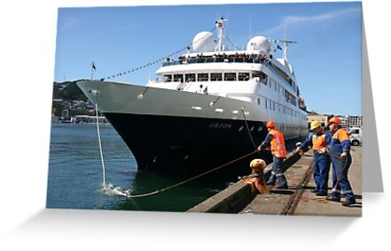Orion (4,050 grt) at Wellington, NZ by Mike Warman