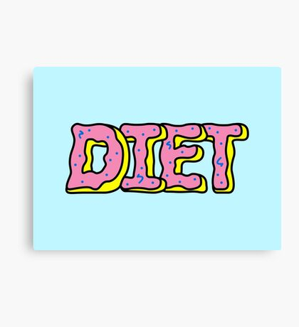 Donut Diet Canvas Print