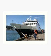 cruise ship Orion (4,050 grt) Art Print