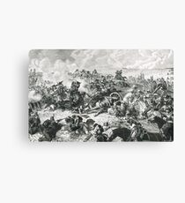 The Battle of Waterloo 18 June 1815 Canvas Print