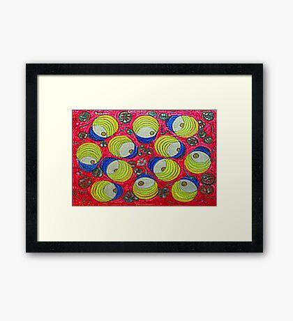 Thai Abstract Acrylic dOOdle Framed Print