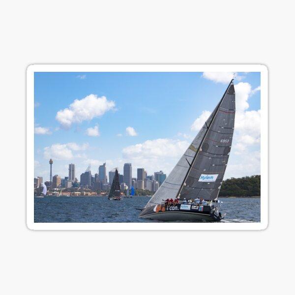 Yacht Race - On Sydney Harbour Sticker