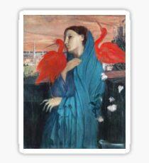 Edgar Degas - Young Woman With Ibis Sticker