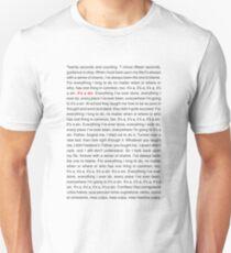 Pet Shop Boys - It's A Sin (Lyrics) T-Shirt