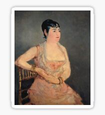 Edouard Manet - Lady In Pink (1879 - 1881) Sticker