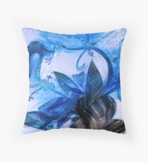 The Frozen Flower. Throw Pillow