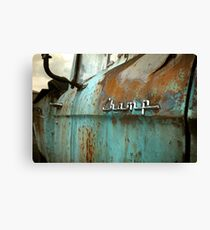 Rusty Studebaker Champ Pickup Detail Canvas Print