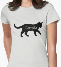 Carmilla the Cat Women's Fitted T-Shirt