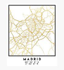 MADRID SPAIN CITY STREET MAP ART Photographic Print