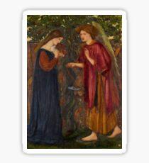 Edward Burne-Jones - The Annunciation Sticker