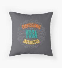 Yoga Instructor Throw Pillow