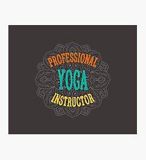 Yoga Instructor Photographic Print