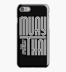 Muay Thai Big Letter - Thailand Martial Art iPhone Case/Skin