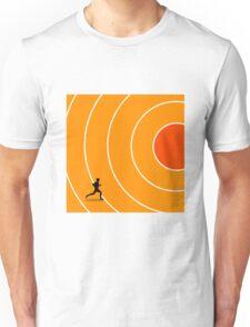 running target goal result success Unisex T-Shirt