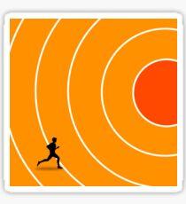running target goal result success Sticker