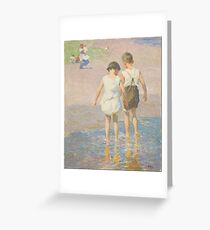 Edward Henry Potthast - Brother And Sister Circa 1915 Greeting Card