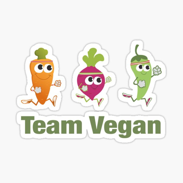 Team Vegan Running Veggies Sticker