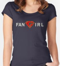 Supergirl - Fangirl Women's Fitted Scoop T-Shirt