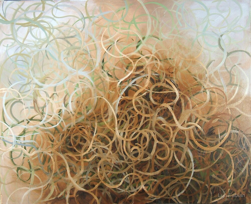 Abstract 1 (Entangled) by Lyn Fabian
