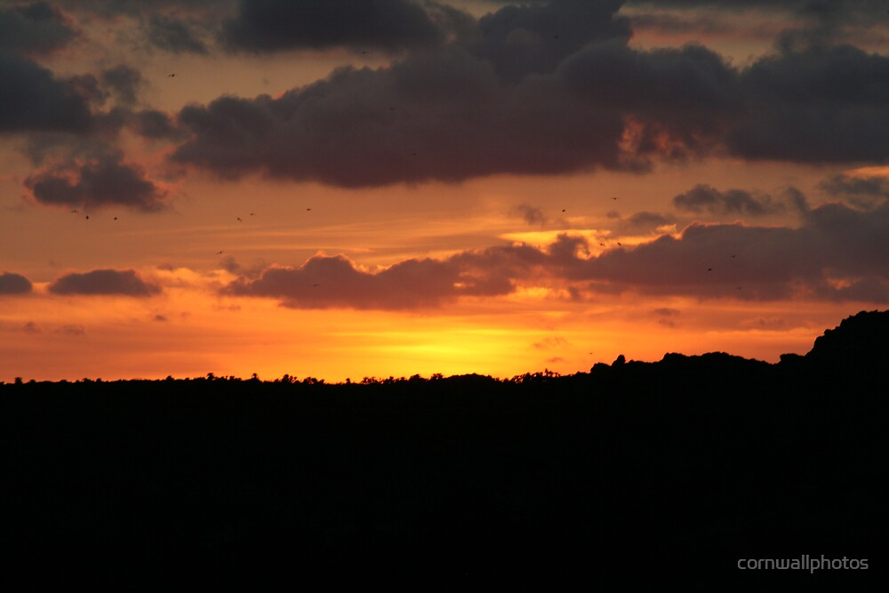 Red Sunset by cornwallphotos