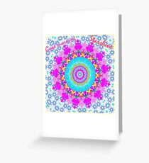 Boho Mandala Greeting Card